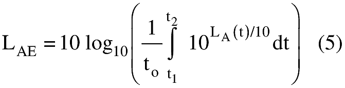 Equation for (d) Sound exposure level must be computed in accordance with the following formula