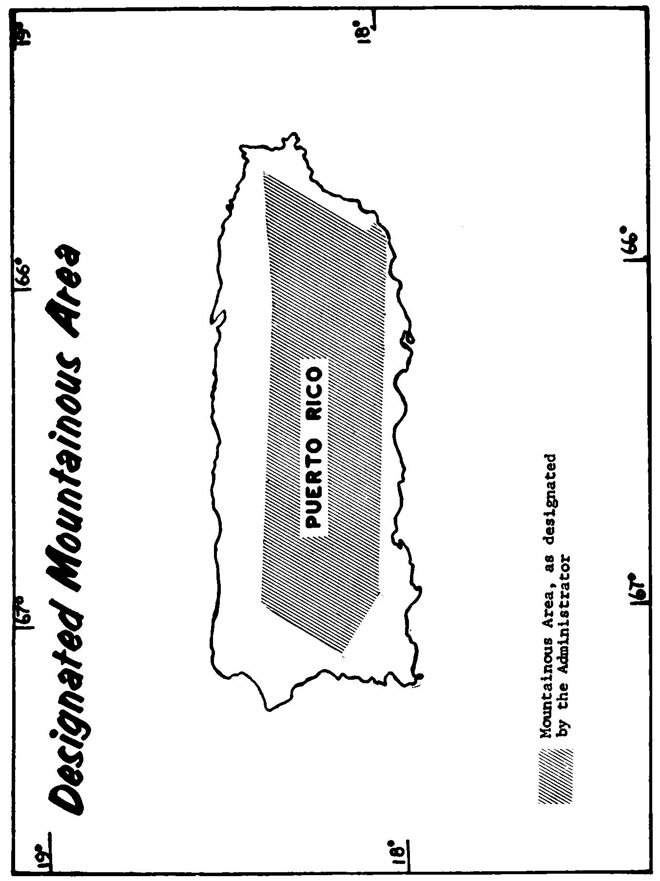 Graphic of Beginning at latitude 18°22′ N., longitude 66°58′ W., thence to latitude 18°19′ N., longitude 66°06′ W.; thence to latitude 18°20′ N., longitude 65°50′ W.; thence to latitude 18°20′ N., longitude 65°42′ W.; thence to latitude 18°03′ N., longitude 65°52′ W.; thence to latitude 18°02′ N., longitude 65°51′ W.; thence to latitude 17°59′ N., longitude 65°55′ W.; thence to latitude 18°05′ N., longitude 66°57′ W.; thence to latitude 18°11′ N., longitude 67°07′ W.; thence to latitude 18°22′ N., longitude 66°58′ W.; the point of beginning.