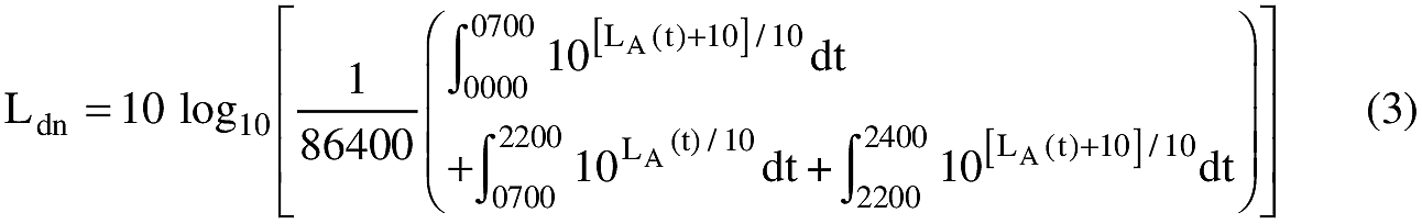 Equation for (b) Day-night average sound level (individual day) must be computed in accordance with the following formula