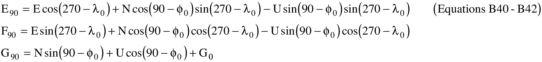 Graphic of (E) An applicant shall transform E,N,U to E90,F90,G90