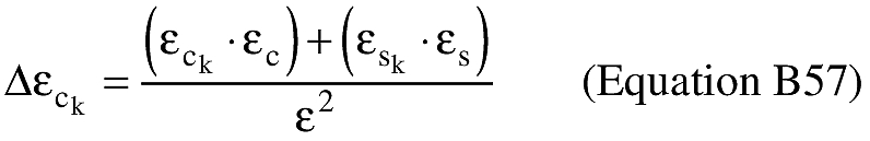 Equation for (K) An applicant shall compute the cosine of the difference between the eccentric anomaly at impact and the eccentric anomaly at epoch (Δεc k).