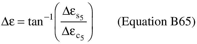 Equation for (R) An applicant shall compute the difference between the eccentric anomaly at impact and the eccentric anomaly at epoch (Δε).