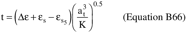 Equation for (S) An applicant shall compute the time of flight from epoch to impact (t).
