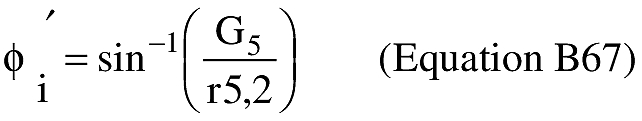 Equation for (T) An applicant shall compute the geocentric latitude at impact (φ').