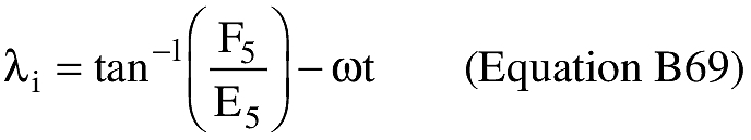 Equation for (V) An applicant shall compute the East longitude at impact (λ).